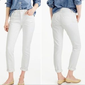 J. Crew | Slim Broken In Boyfriend White Jeans 28